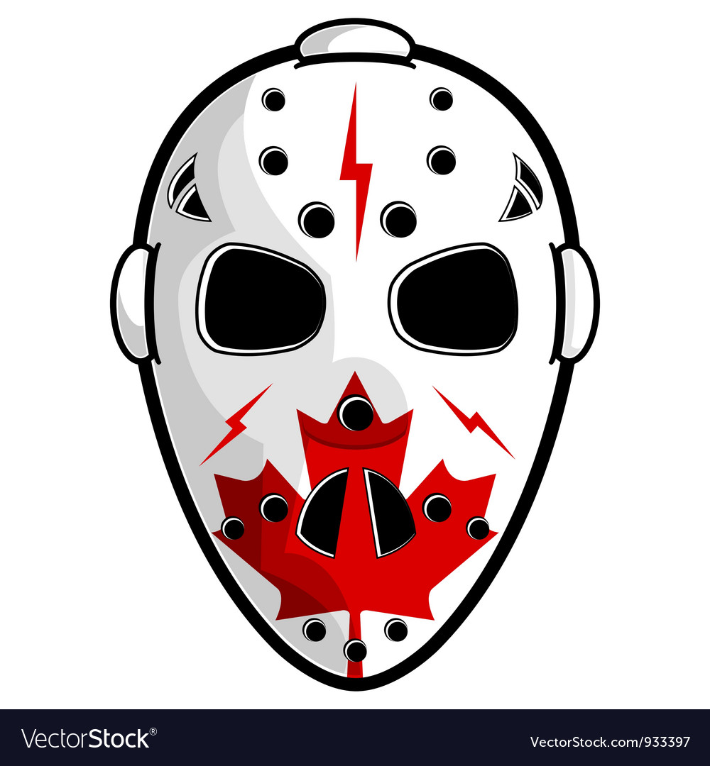 Canadian hockey mask vector | Price: 3 Credit (USD $3)
