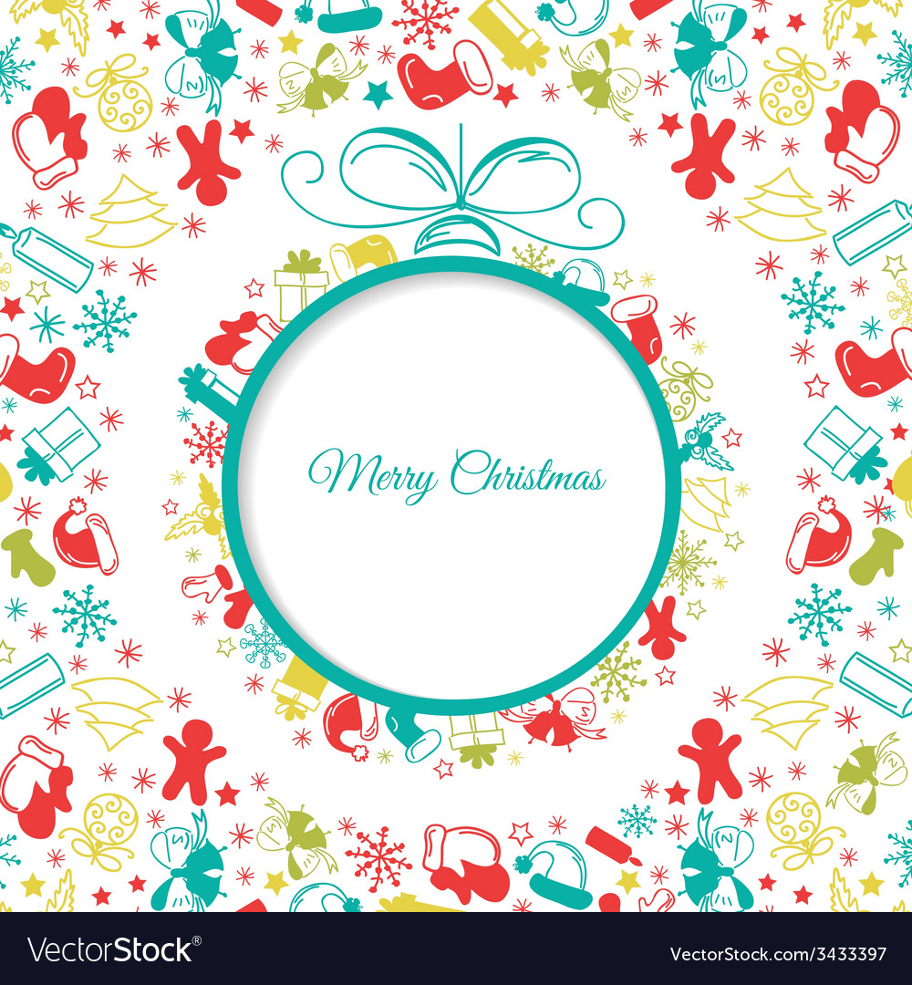 Christmas ball background abstract vector   Price: 1 Credit (USD $1)
