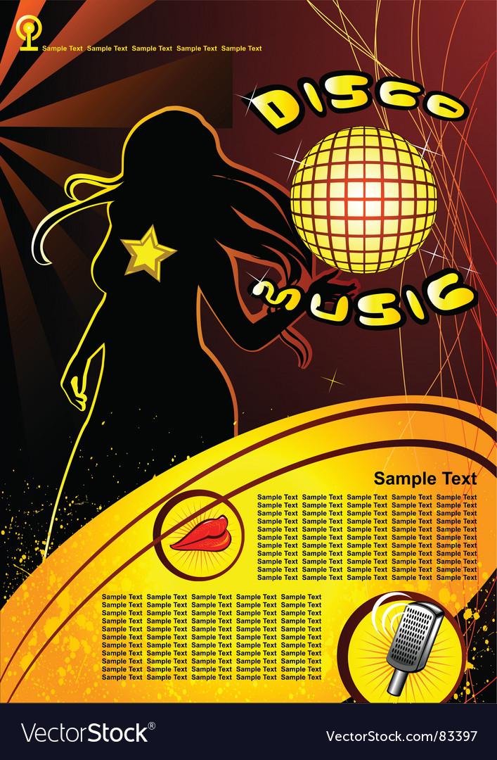 Disco music vector | Price: 1 Credit (USD $1)