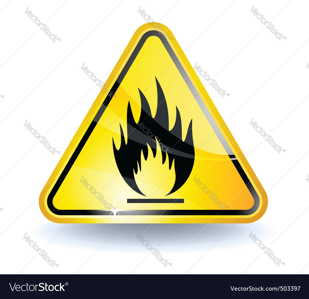 Flammable sign vector | Price: 1 Credit (USD $1)