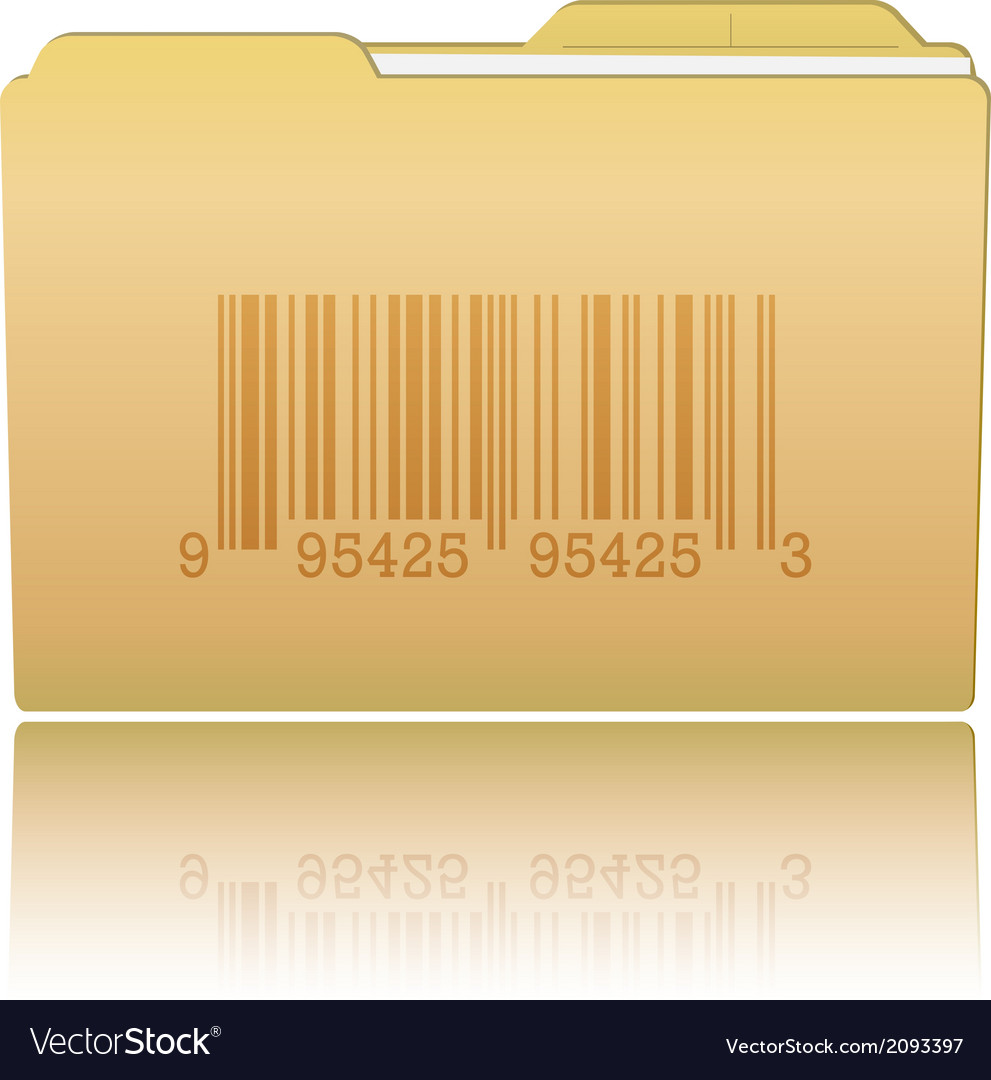 Folder with bar code vector | Price: 1 Credit (USD $1)