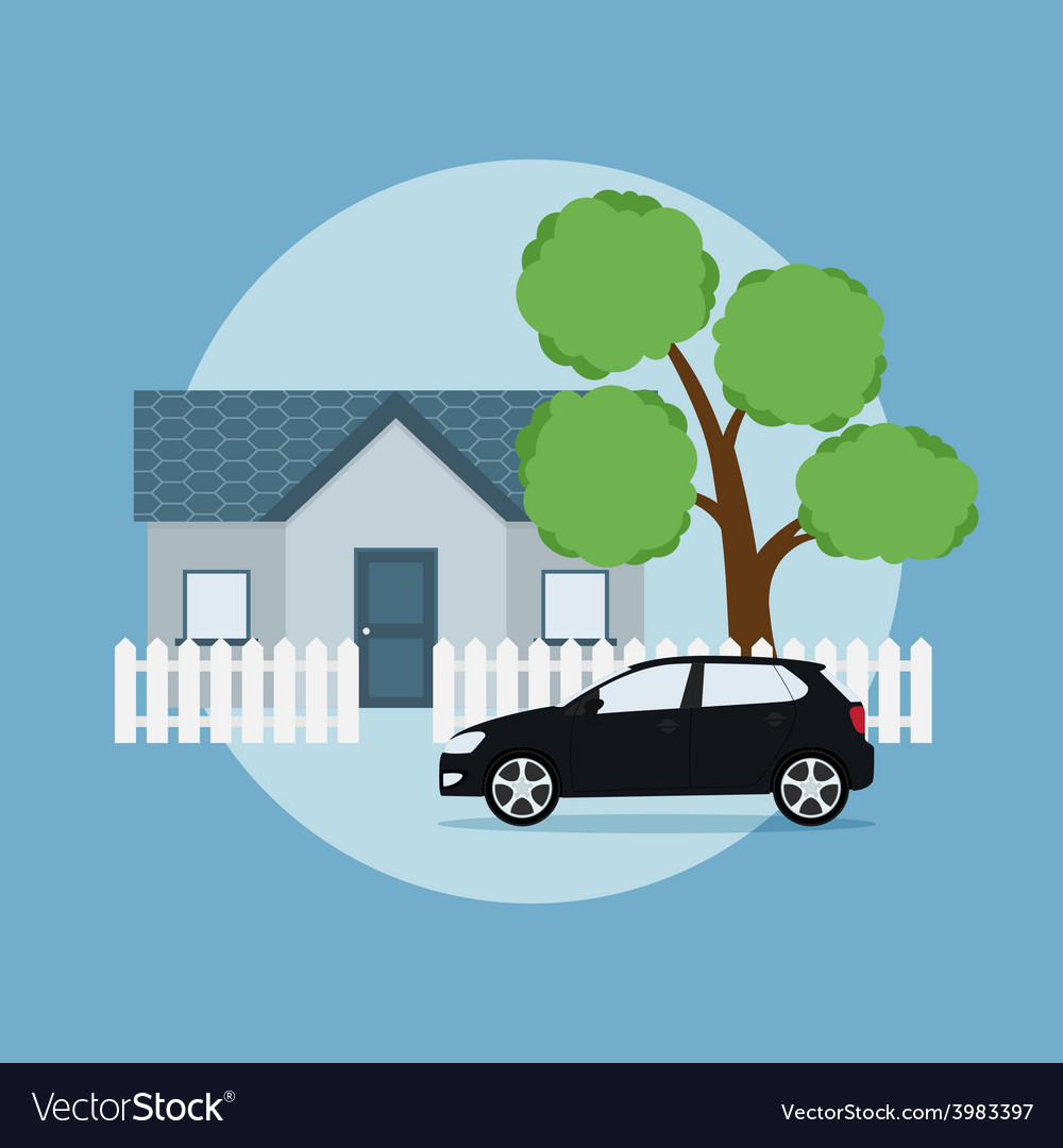Home and car vector | Price: 1 Credit (USD $1)