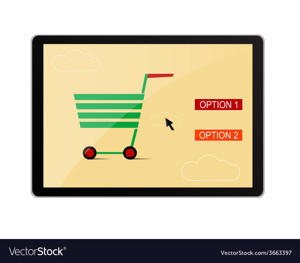 Online shopping banner vector | Price: 1 Credit (USD $1)