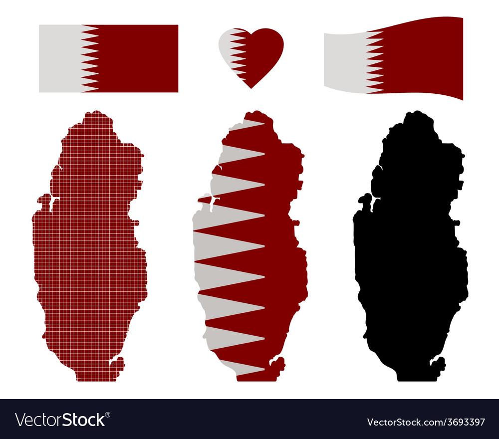 Qatar map vector   Price: 1 Credit (USD $1)