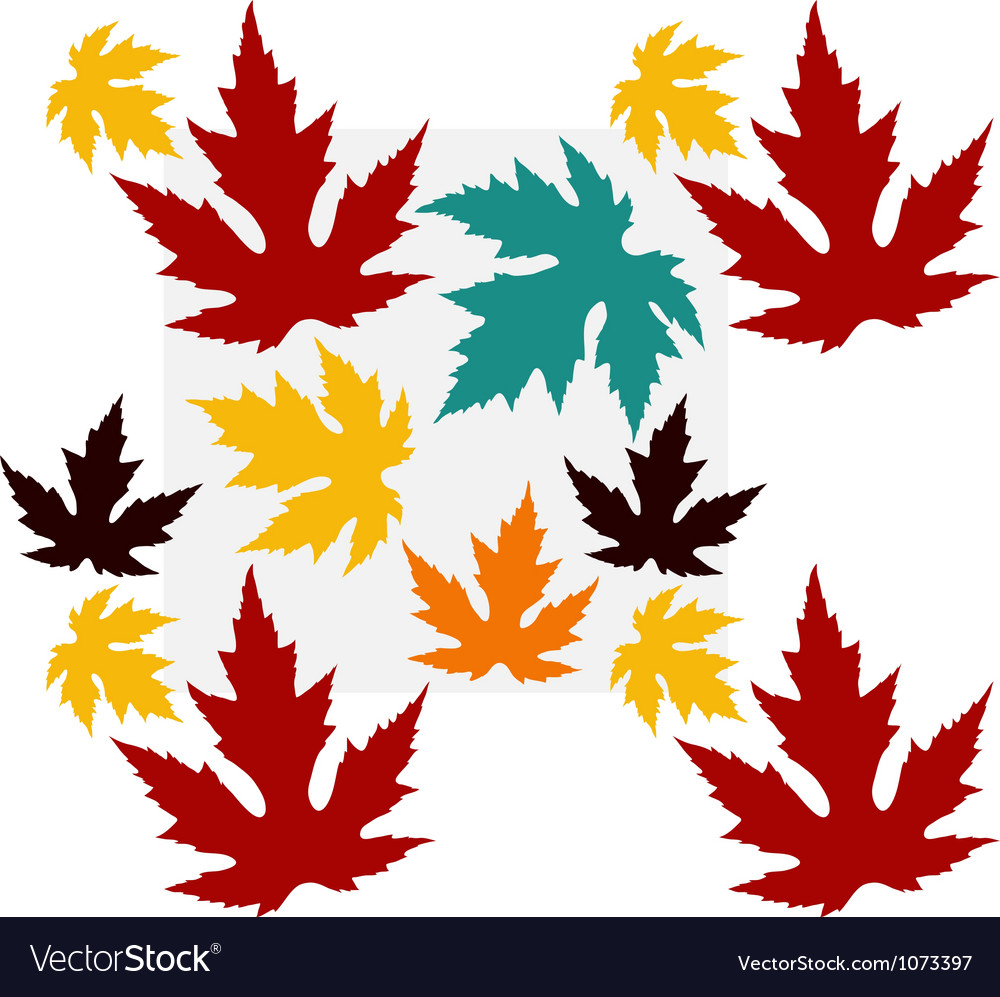 Seamless pattern with maple leaves vector | Price: 1 Credit (USD $1)