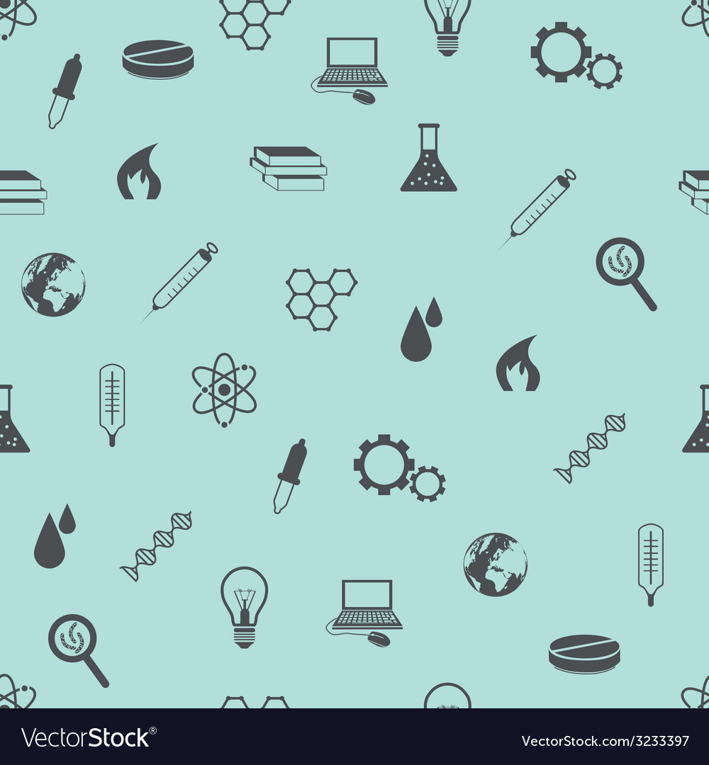 Seamless science pattern vector | Price: 1 Credit (USD $1)