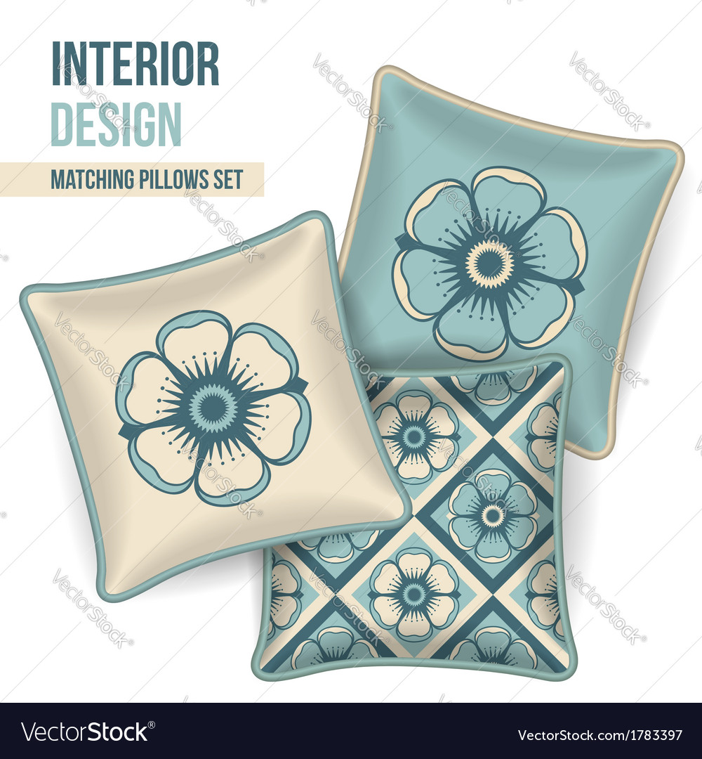 Set of decorative pillows vector | Price: 1 Credit (USD $1)