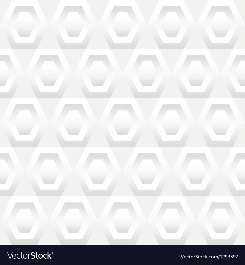 Shades of white hexagons seamless background tile vector | Price: 1 Credit (USD $1)