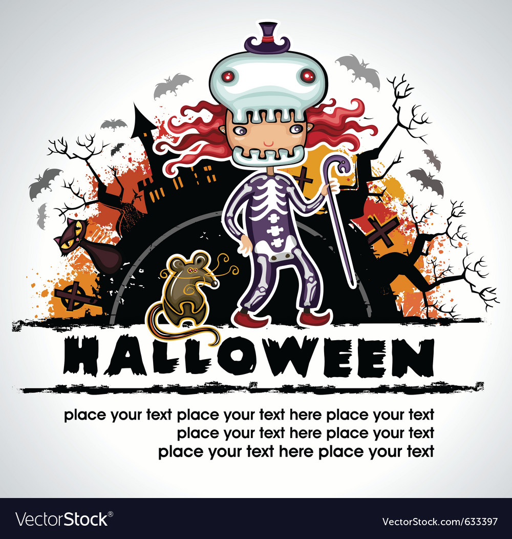 Spooky halloween composition 3 vector | Price: 1 Credit (USD $1)