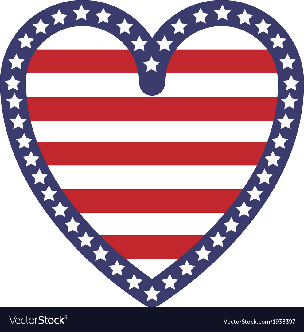 Usa heart vector | Price: 1 Credit (USD $1)