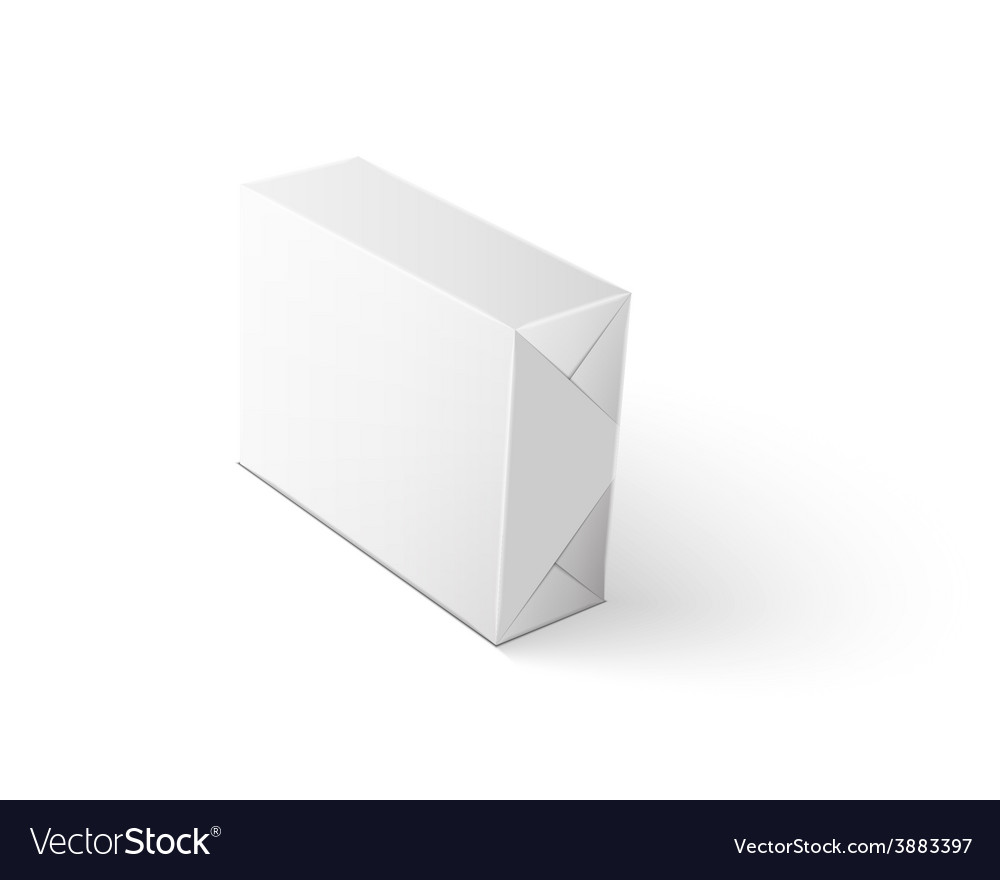 White wrap package for new design on white vector | Price: 1 Credit (USD $1)