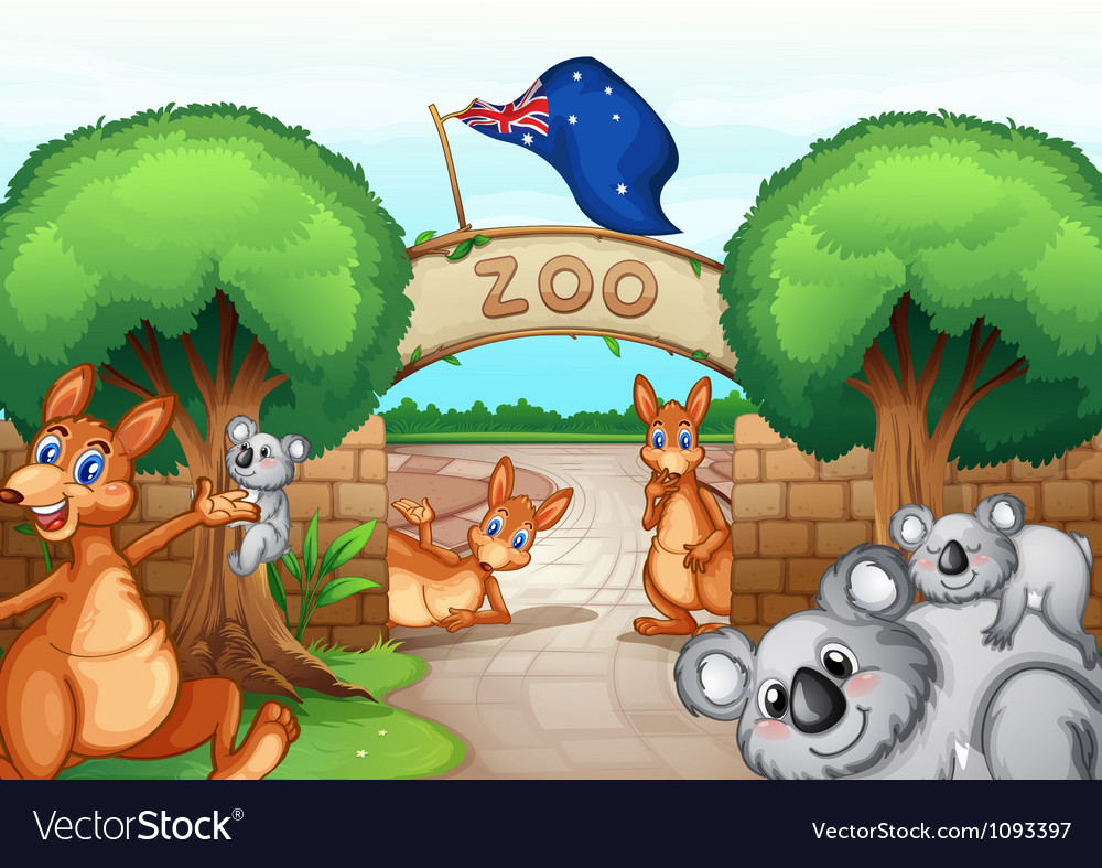 Zoo scene vector | Price: 3 Credit (USD $3)