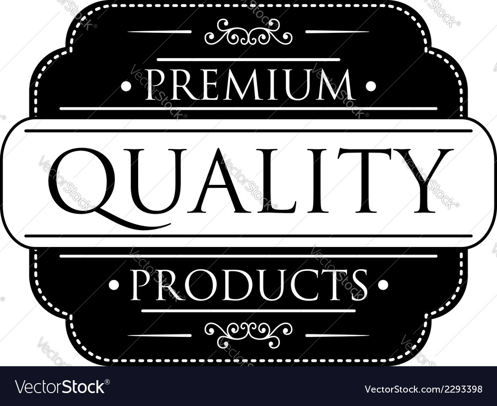 Black premium quality label vector | Price: 1 Credit (USD $1)