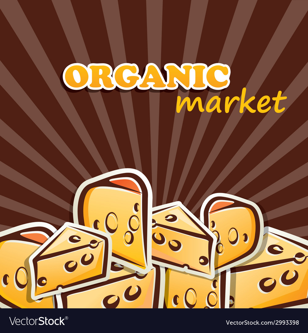 Cheese organic food concept vector | Price: 1 Credit (USD $1)