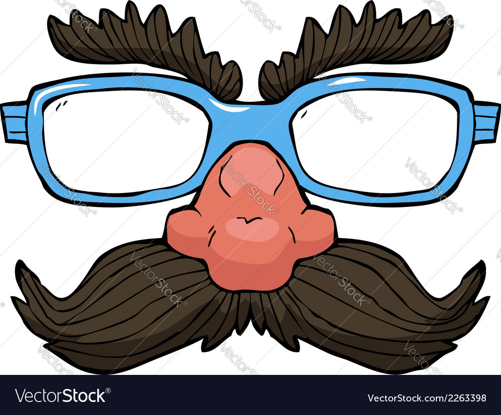 Glasses with a mustache vector | Price: 1 Credit (USD $1)