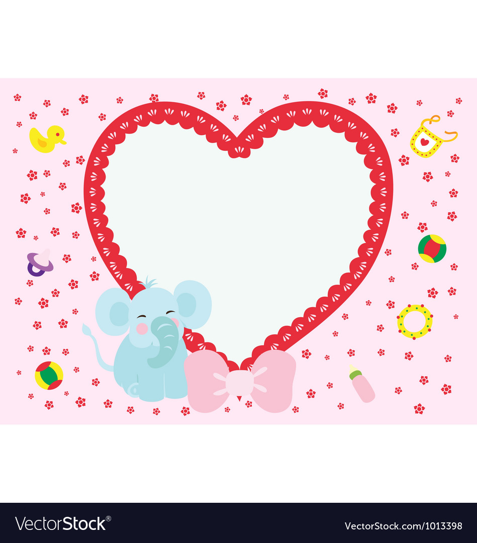 Love elephant new born boy vector | Price: 1 Credit (USD $1)