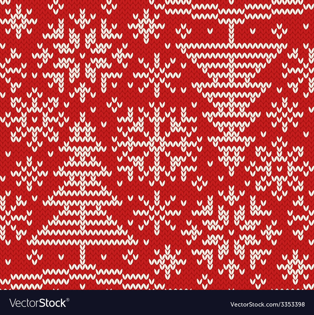 New year knitted northern seamless pattern vector | Price: 1 Credit (USD $1)