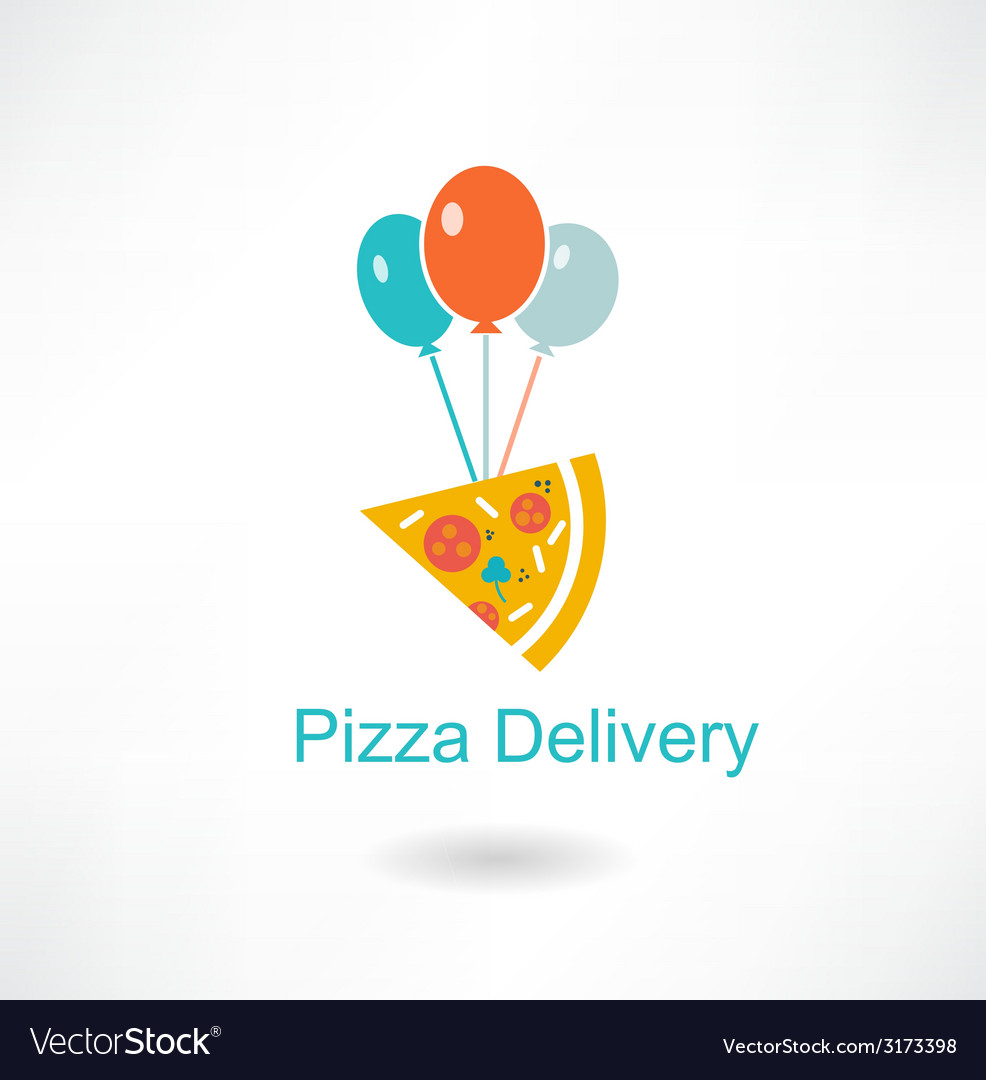 Pizza delivery vector | Price: 1 Credit (USD $1)