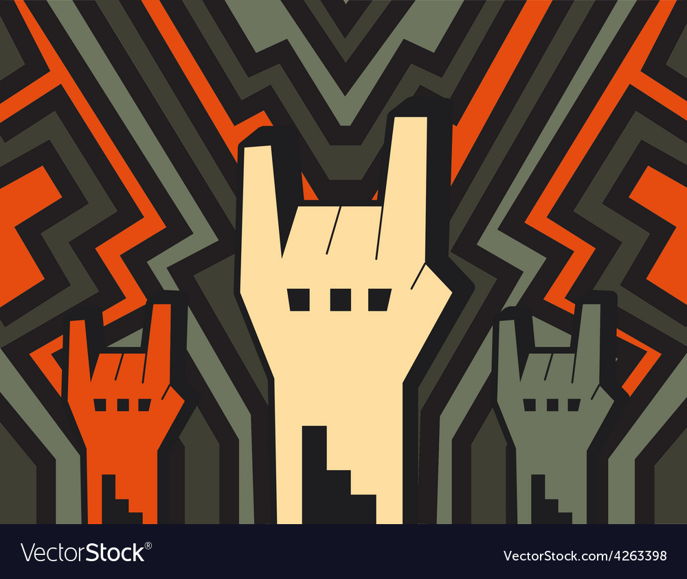 Rock hands vector | Price: 1 Credit (USD $1)