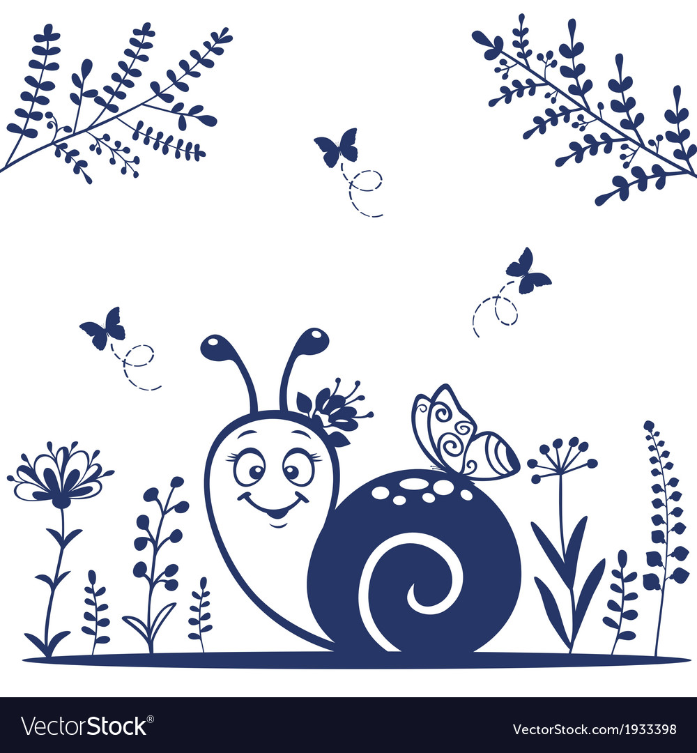 Snail silhouette vector | Price: 1 Credit (USD $1)
