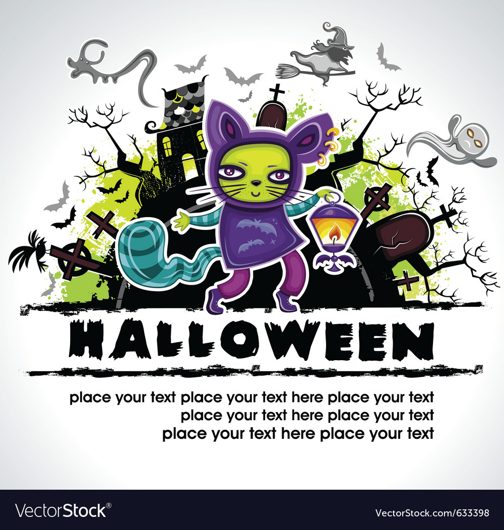 Spooky halloween composition 2 vector | Price: 1 Credit (USD $1)