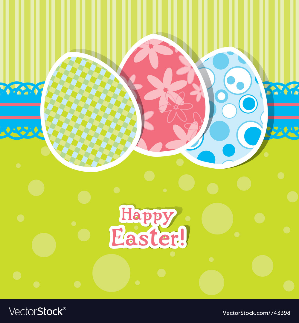 Template egg greeting card vector | Price: 1 Credit (USD $1)