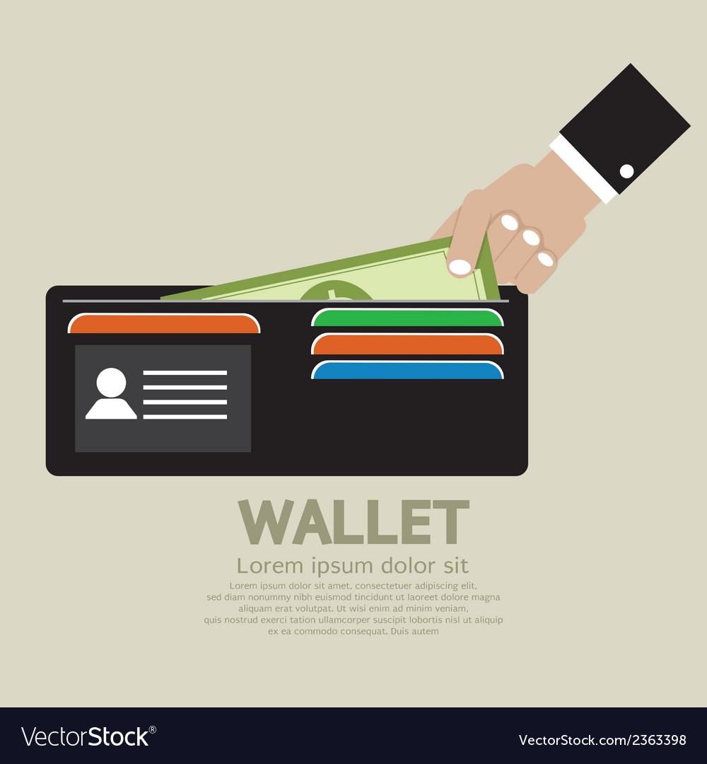 Wallet vector | Price: 1 Credit (USD $1)