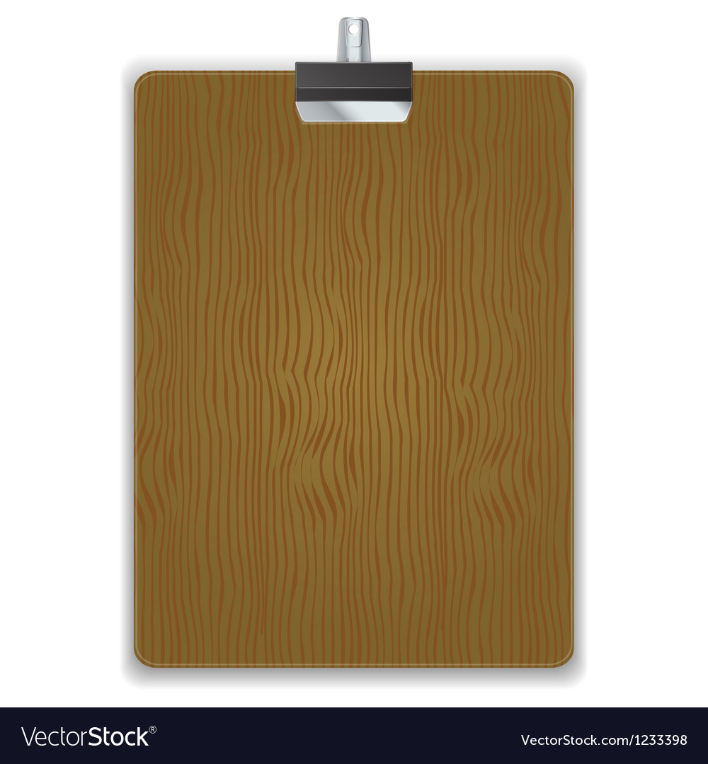 Wooded clipboard isolated vector | Price: 1 Credit (USD $1)