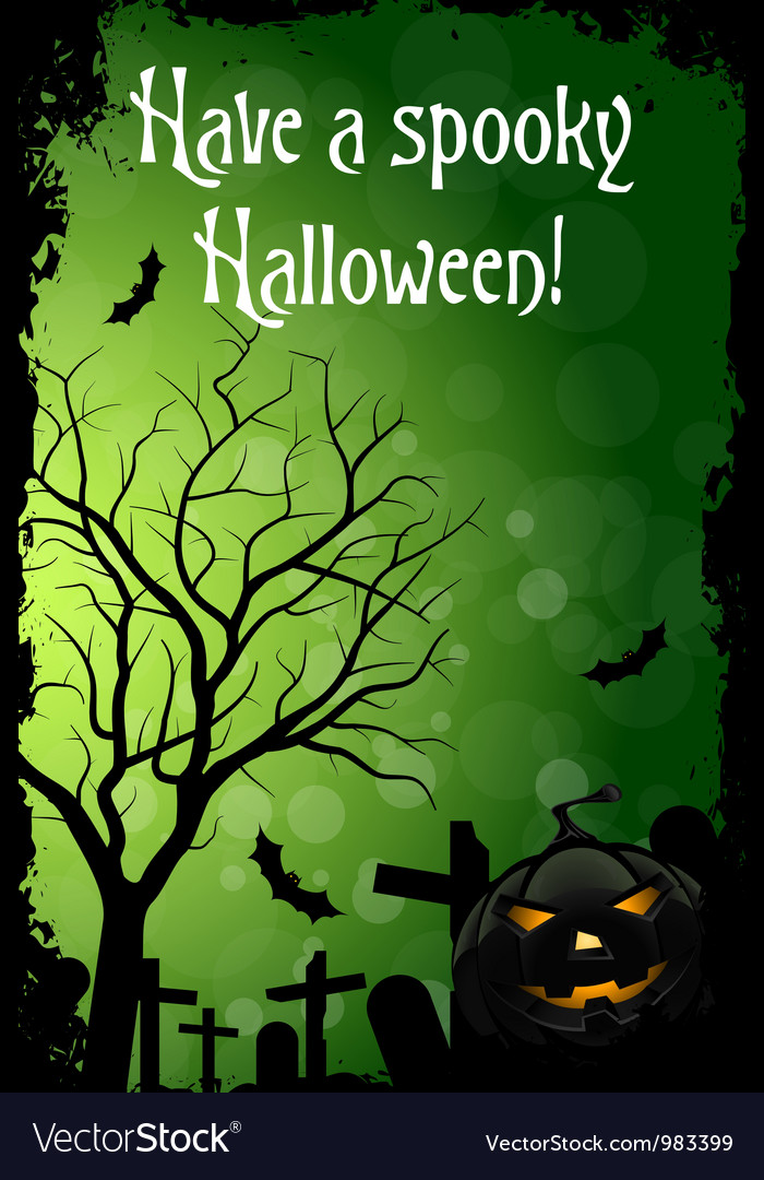 Abstract green halloween card vector | Price: 1 Credit (USD $1)