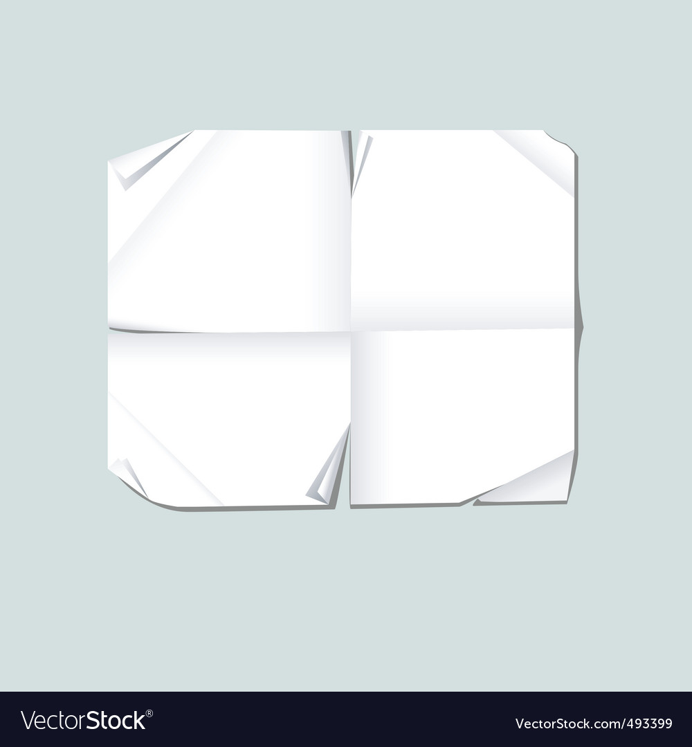 Blank folded paper vector | Price: 1 Credit (USD $1)