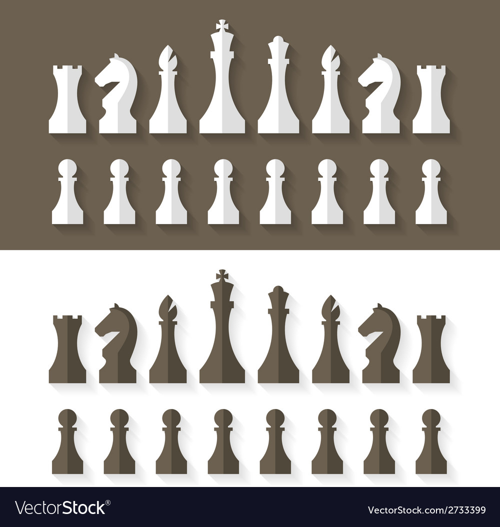 Chess pieces flat design style vector | Price: 1 Credit (USD $1)
