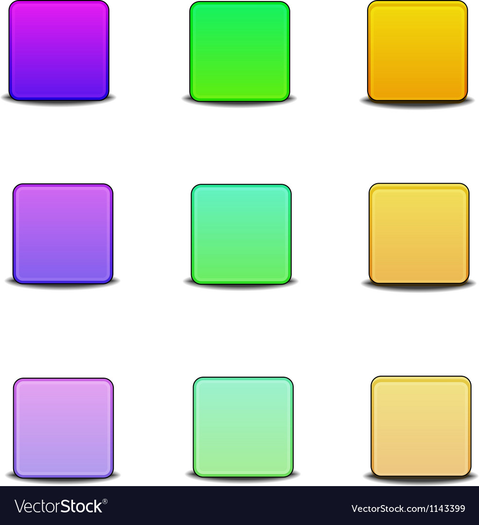 Colorful bevel icons vector | Price: 1 Credit (USD $1)