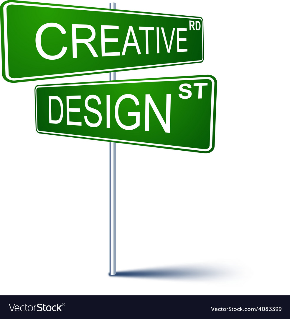Creative-design direction sign vector | Price: 1 Credit (USD $1)