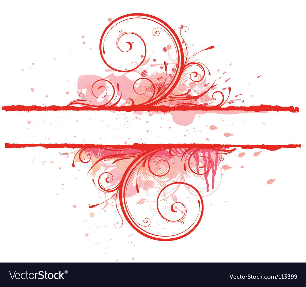Floral decorative banner vector | Price: 1 Credit (USD $1)