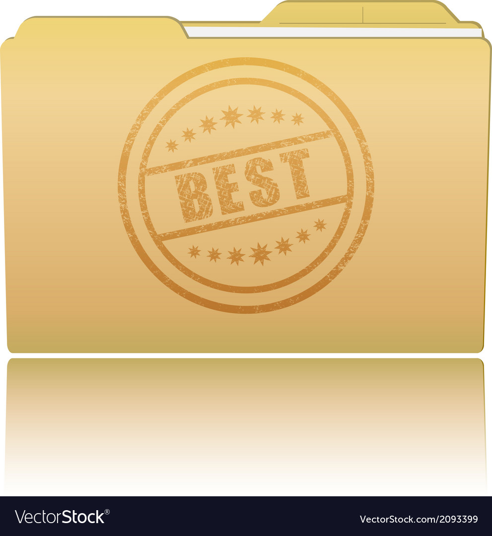 Folder with best damaged stamp vector | Price: 1 Credit (USD $1)