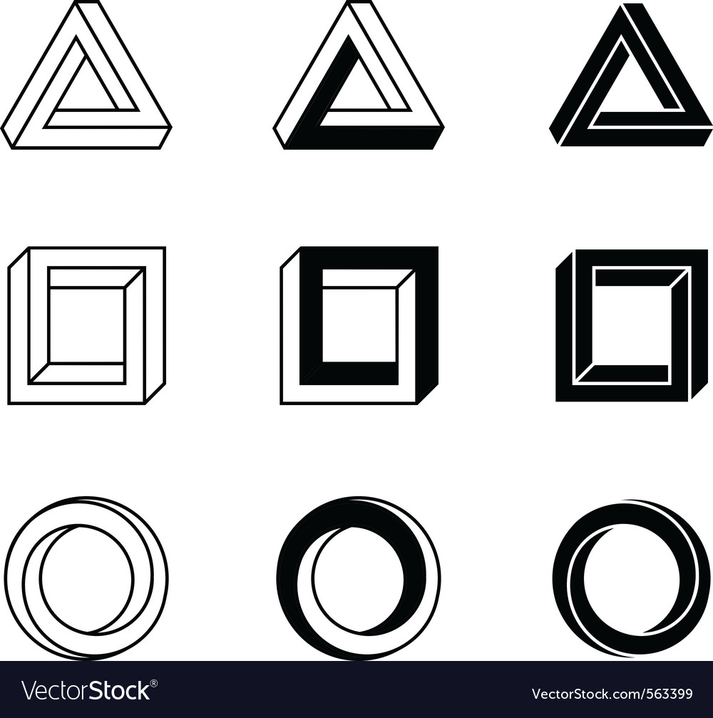 Impossible objects vector | Price: 1 Credit (USD $1)