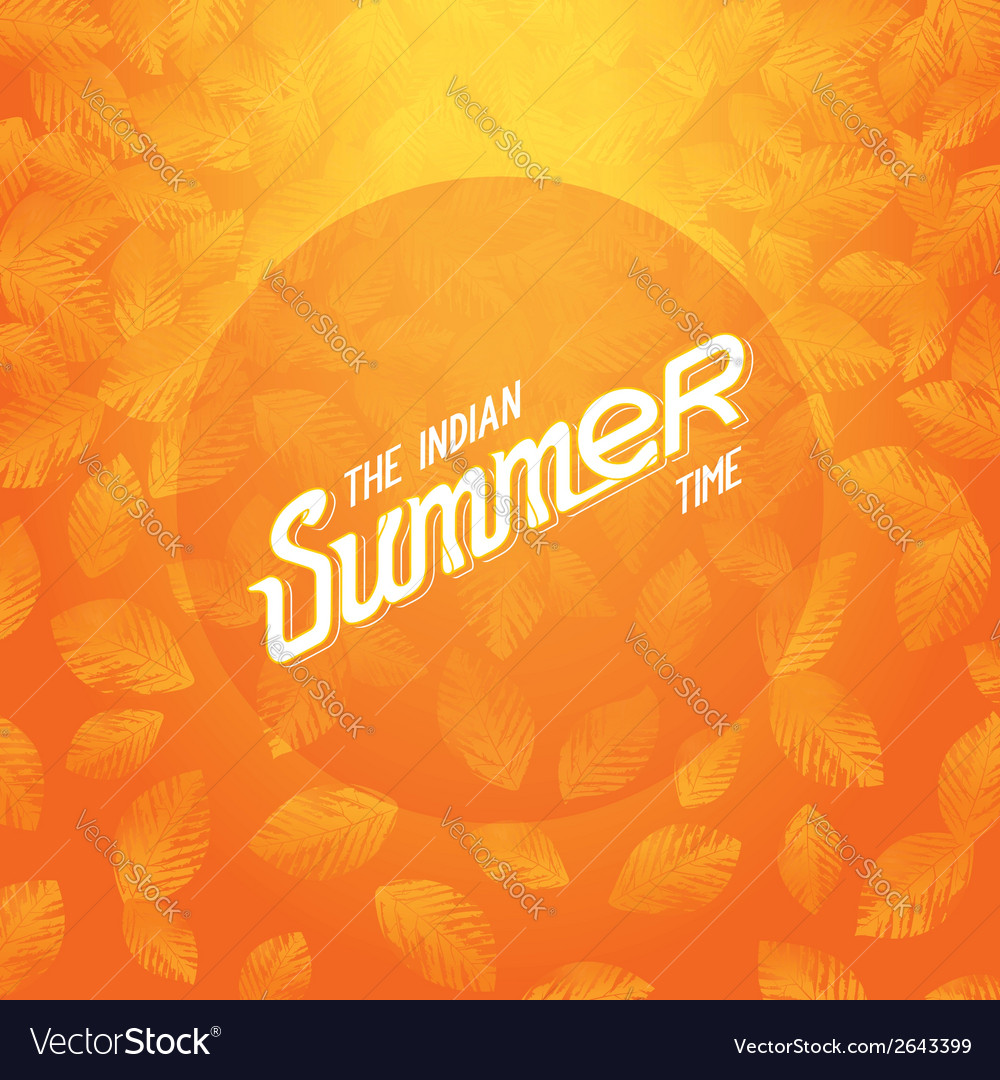 The indian summer vector | Price: 1 Credit (USD $1)