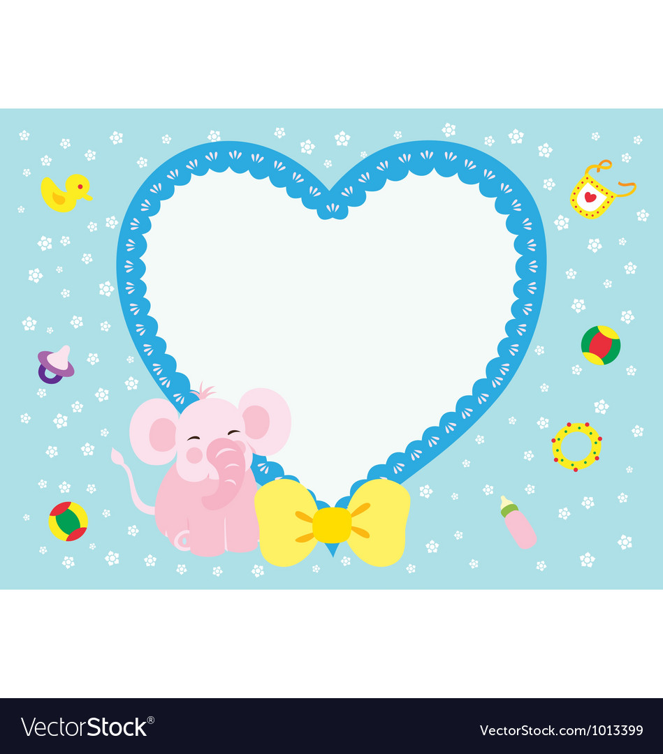 Love elephant new born girl vector | Price: 1 Credit (USD $1)