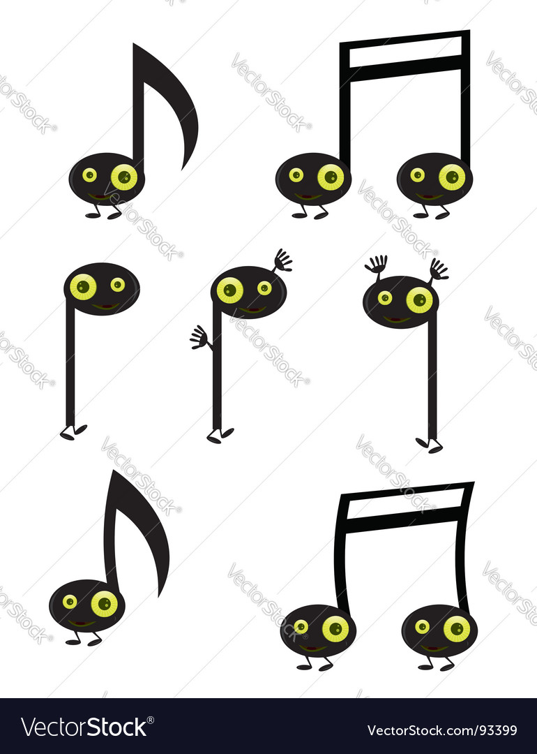Music note characters vector | Price: 1 Credit (USD $1)