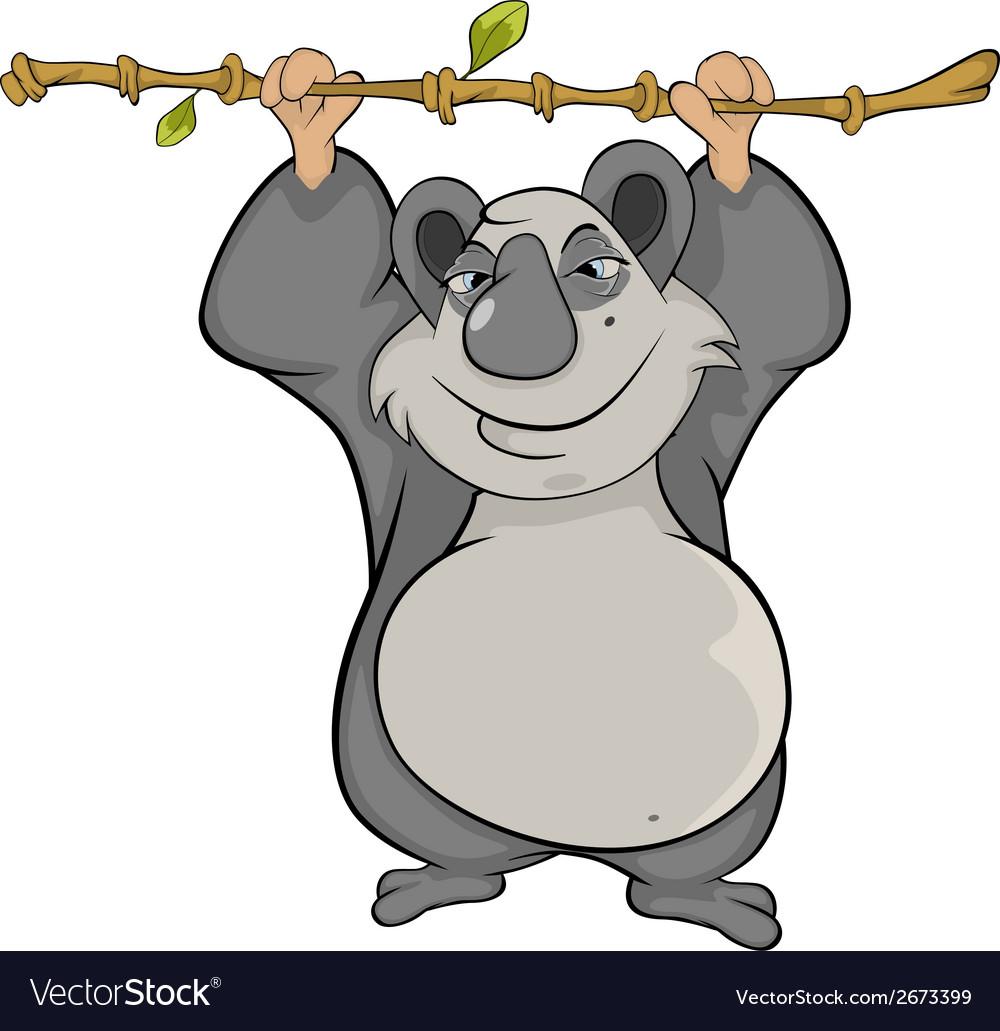 Panda cartoon vector | Price: 1 Credit (USD $1)