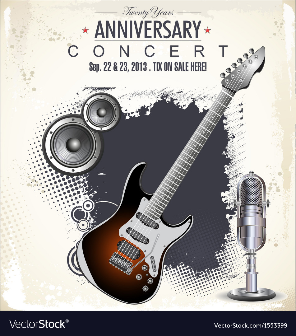 Rock concert poster vector | Price: 3 Credit (USD $3)
