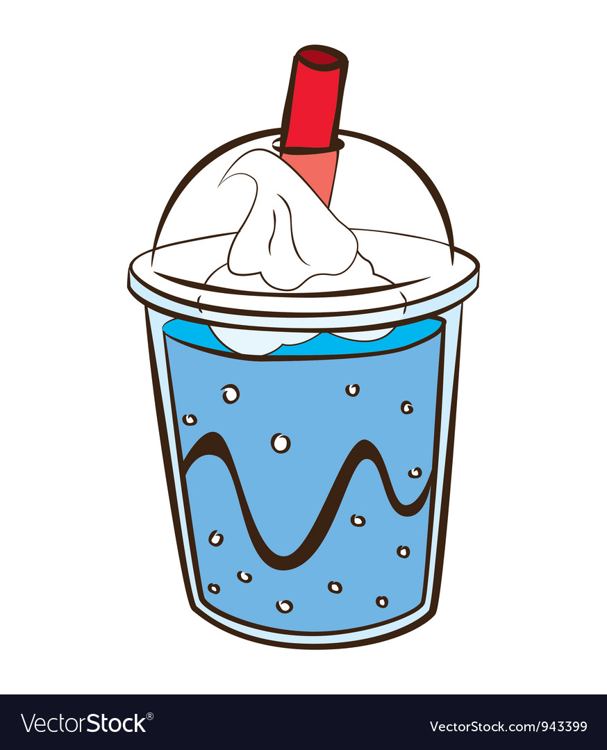 Soft drink with float vector | Price: 1 Credit (USD $1)