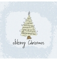 Doodle card - abstract christmas tree vector