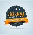 30 day money back badge vector