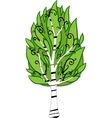 Cartoon birch tree isolated vector