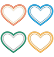 Four hearts love frames isolated on white vector