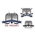 Ice hockey game sports symbols vector