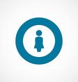 Female bold blue border circle icon vector