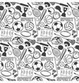 Sport pattern with vintage badges and labels vector