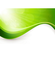 Abstract green light burst background vector
